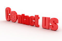 Contact us , dial concept Stock Photo
