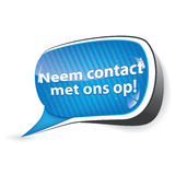 Contact us! Dutch language Royalty Free Stock Photography