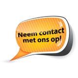 Contact us! - Dutch language Royalty Free Stock Image
