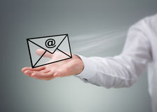 Contact us by e-mail Royalty Free Stock Photography