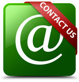 Contact us email address icon green square button vector illustration