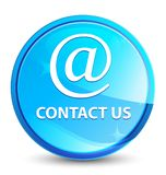 Contact us (email address icon) splash natural blue round button royalty free illustration