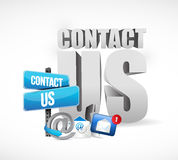 contact us email concept illustration design Stock Photos
