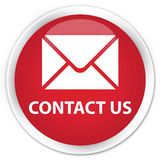 Contact us (email icon) premium red round button Royalty Free Stock Image