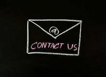 Contact us with email Royalty Free Stock Photo