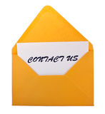 Contact us envelope Stock Images