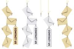 Contact us envelopes Stock Photo