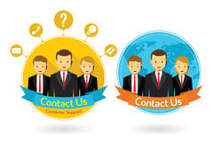 Contact us flat design concept Stock Images