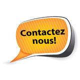 Contact us! French language Contactez nous Stock Image