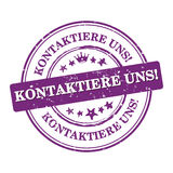 Contact us! - German language Royalty Free Stock Photo