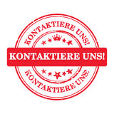 Contact us! - German language Stock Image