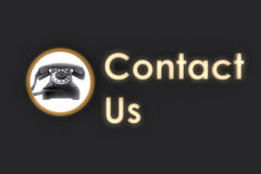 Contact us glowing Royalty Free Stock Photo