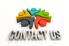 People logo, Contact us royalty free stock images