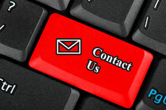 Contact Us icon button Stock Photography