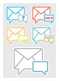 Contact Us Icon. Contact us, feedback web icon royalty free illustration