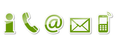 contact us icon set stock illustration