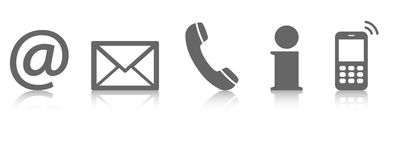 Contact us icon set Royalty Free Stock Photography