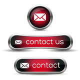 Contact us icon Royalty Free Stock Photos