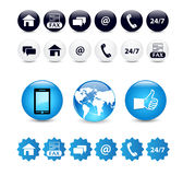 Contact us icon set Stock Photography