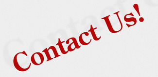 Contact Us Icon or Sign. Red Contact Us Sign, Icon or Banner Stock Photography