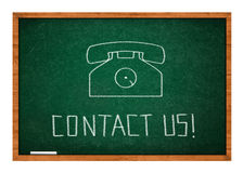 Contact us icon Royalty Free Stock Photography