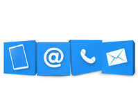 Contact Us Icons. Contact Us Creative Blue icons Design Royalty Free Stock Image