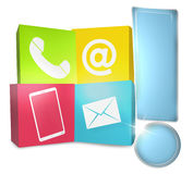 Contact Us Icons Stock Image