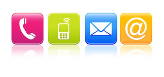 Contact Us - Icons 01 Royalty Free Stock Images