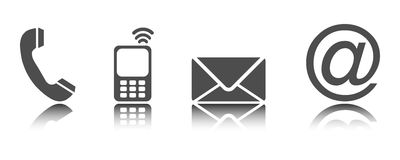 Contact Us - Icons 02 Royalty Free Stock Image