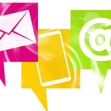Contact Us icons. Graphic illustration royalty free illustration