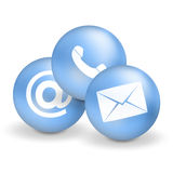 Contact Us Icons. Graphic illustration design Royalty Free Stock Photo