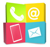 Contact Us Icons Royalty Free Stock Photos