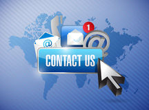 Contact us and icons illustration Royalty Free Stock Photo