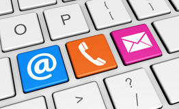 Contact Us Icons Keyboard Banner Royalty Free Stock Photo
