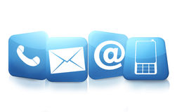 Contact us icons Royalty Free Stock Image