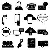 Contact us icons set Royalty Free Stock Photo