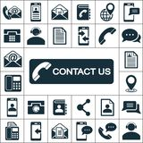 Contact us icons set Royalty Free Stock Image