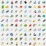 100 contact us icons set, isometric 3d style Royalty Free Stock Image