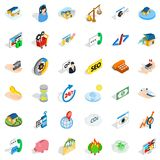 Contact us icons set, isometric style Stock Photography