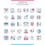 Contact us icons set Stock Photography