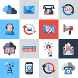 Contact us icons set Royalty Free Stock Images