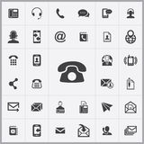 Contact us icons universal set Royalty Free Stock Photography