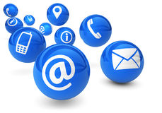 Contact Us Icons Web Connection Stock Photography
