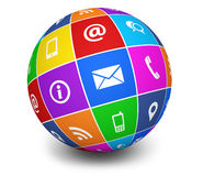 Contact Us Icons Web Globe Stock Photos