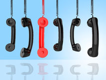 Contact Us Indicates Phone Call And Advice Stock Image
