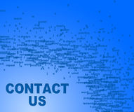 Contact Us Indicates Send Message And Communication Royalty Free Stock Image