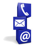 Contact Us Internet Concept royalty free illustration