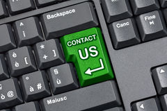 Contact Us Key Computer Keyboard Stock Photo