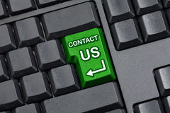 Contact Us Key Empty Computer Keyboard Stock Image