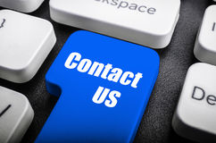Contact us key Stock Images